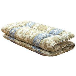 Comolife 100% coton et laine confortable futon japonais Mattres Bleu, dimensions: 99,1x 198,1cm, épaisseur 5,9cm