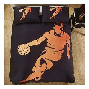 CSYPYLE Literie Ensemble Impression Creative Basketball Sports Motif Housse De Couette avec Taie d'oreiller Maison Maison Textiles Chambre, 200Cm × 200Cm