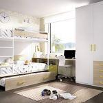 ambiato Jump 309 Lit Mezzanine pour Chambre d'enfant avec lit d'invités