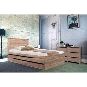 Benzara Luxueuse Finition Marron Taille complète Tête de lit
