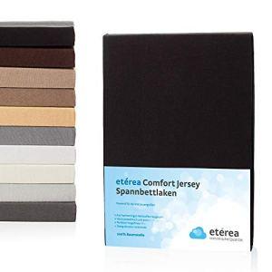 Etérea Comfort Drap Housse en 100% Coton Peigné Jersey avec Bonnets Profonds – Noir 60×120 cm – 70×140 cm