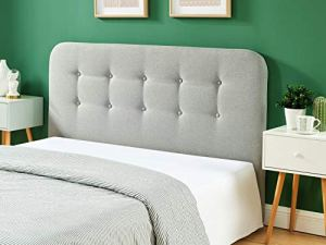 HOMIFAB Tête de lit Gris Clair 140cm – Collection Sally