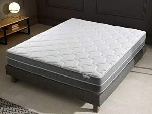 Ensemble mémoire de Forme + sommier 140×190 Hotel Confort Hbedding – 7 Zones de Confort – épaisseur Matelas 25cm