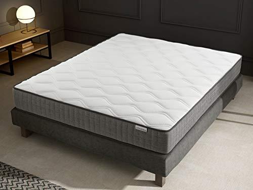 Ensemble mémoire de Forme + sommier 160×200 Ergo Confort Hbedding – 7 Zones de Confort – épaisseur Matelas 22cm