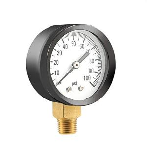 ouying1418 Simmons 1305 0-100 PSI 1/4″ Well Pump Water Pressure Gauge TS50-100PSI