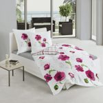 Bierbaum 6404_01 Dessin Parure de lit en Satin de Coton mako Rose (01), Satin mako, Multicolore, 200 cm x 200 cm