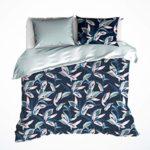 De Witte Lietaer Mowgli Parure : Housse de Couette et Taies d'oreiller, Coton, Bleu Pastel, 200×220 cm