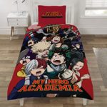 MY HERO ACADEMIA SP1-MHA-MHA-12 Parure pour Couette, Polyester, Multicolore, Simple