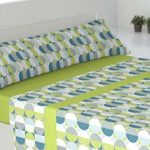 El Barco Parure de lit en Coton, 50% Polyester 90X190 Vert