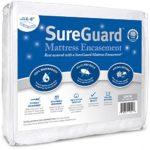 Encassement de matelas SureGuard Queen (15–20 po) 100% imperméable, anti-punaises de lit, hypoallergénique – Housse à fermeture éclair sur six côtés de qualité