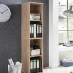 Etagère Maxi-office étroite – chêne sonoma