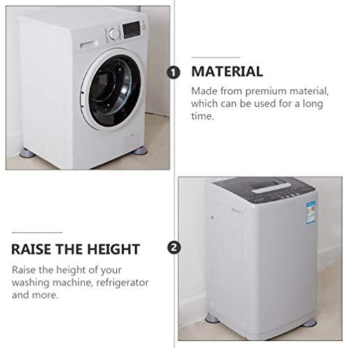 Hemoton 4 Pièces 3. 5Cm Machine À Laver Pied Pad Anti Vibrations Rondelle Riser Étanche À L'humidité Réfrigérateur Jambe Pad Électroménager Antidérapant Pieds Tampons