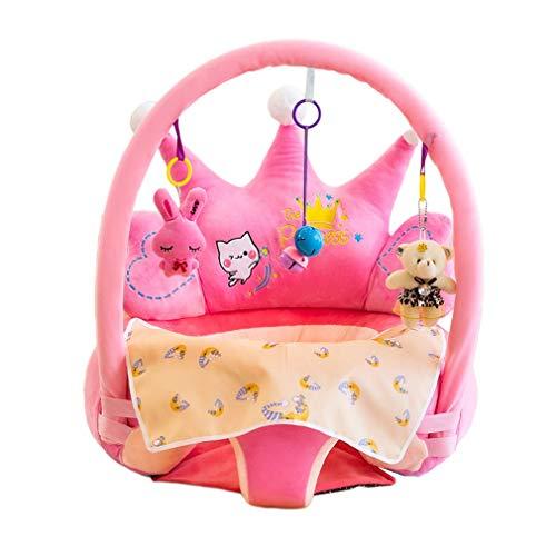 Olddreaming-Durable Siège d'apprentissage pour bébé Chaise de support de canapé Jouet en peluche PP Rembourrage en coton élastique doux Anti-chute Canapé d'apprentissage pour enfant Rose