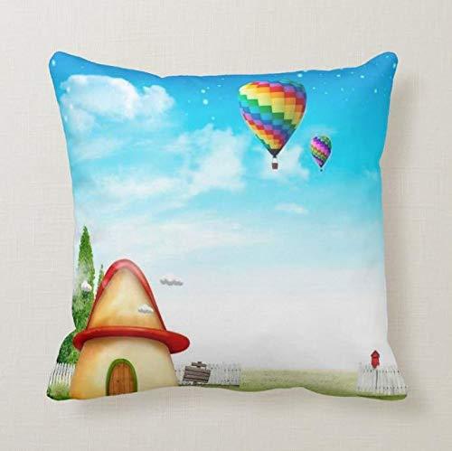 Perfecone – Taie d'oreiller pour décoration de maison – Motif dessin animé – 50 x 50 cm