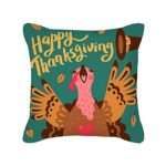 GYMS Lot De 4 Housses De Coussin Décoratives 18 X 18 Pouces, Housses De Coussin De Thanksgiving Turquie, sans Inserts, pour Canapé-Lit Maison Voiture Extérieure,D