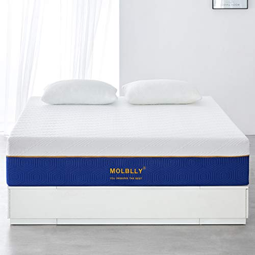 Molblly Matelas 160×200 Extrêmement Durable Ultra Respirante Fermeté Moyenne Literie Matelas Memoire De Forme Matelas 160x200x22cm