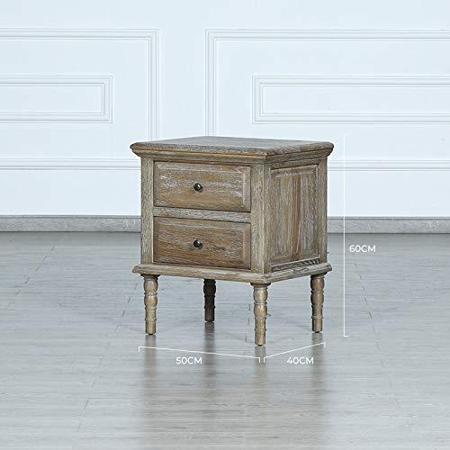 SUNTAOWAN Louis Fashion Tableau de Nuit Nordic Chêne Cabinet de Chevet Simple American Moderne Table de Chevet de Luxe Moderne Bois Massif (Color : Small Size 1)