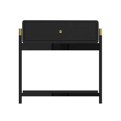 SUNTAOWAN Nordic Table de Chevet Home Mobilier Table de Nuit Simple Chambre Moderne Cabinet de Chevet de Chevet de Chevet de Luxe sous Table de Chevet MC (Color : Black A)