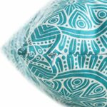 TreeWool 2 Paquet Housse Coussin Mandala Accent en Coton Toile – Turquoise, 16 x 16 inches