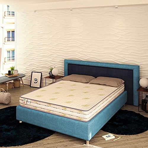 Baldiflex Emporio Matelas à mémoire de forme et ressorts 20 cm de hauteur, pour lit double 180 x 190 cm
