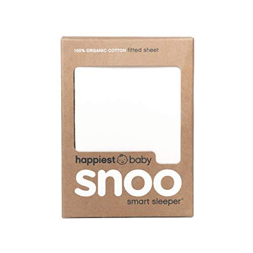 Happiest Baby SNOO Drap-housse 100 % coton bio blanc
