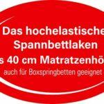 Heike Drap-housse Multistretch (naturel, 90 x 200 cm – 100 x 220 cm)