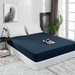 Mixibaby Drap-housse en jersey 100 % coton – 28 couleurs – Dimensions : 90 x 200 cm – Couleur : bleu sarcelle