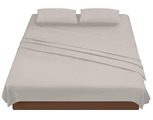 Parure de lit 2 places, parure de lit en microfibre, drap housse 160 x 200 cm, drap plat 240 x 280 cm, 2 taies d'oreiller 50 x 80 cm.