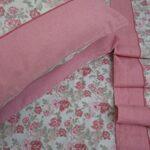 Parure de lit double en flanelle de pur coton, drap plat 240 x 280 cm. Drap housse 180 x 200 cm. 2taies d'oreiller: 52x82cm.