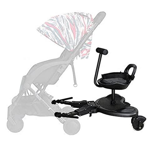 Planche de poussette avec siège, croix argentée universelle, amovible, pour poussette, accessoires de connexion de poussette, charge maximale de 25 kg