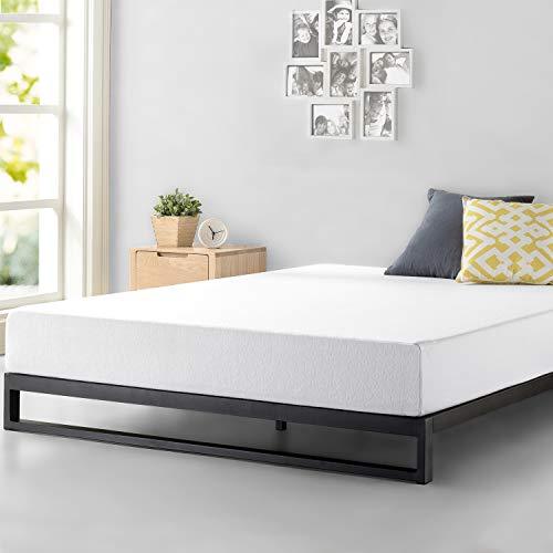 Zinus Cadre de lit à profil bas résistant Trisha 17,78 cm Platforma/ Support de matelas/ Pas besoin de sommier/ Soutien solide avec lattes en bois/ Montage facile/ 180 x 200 cm