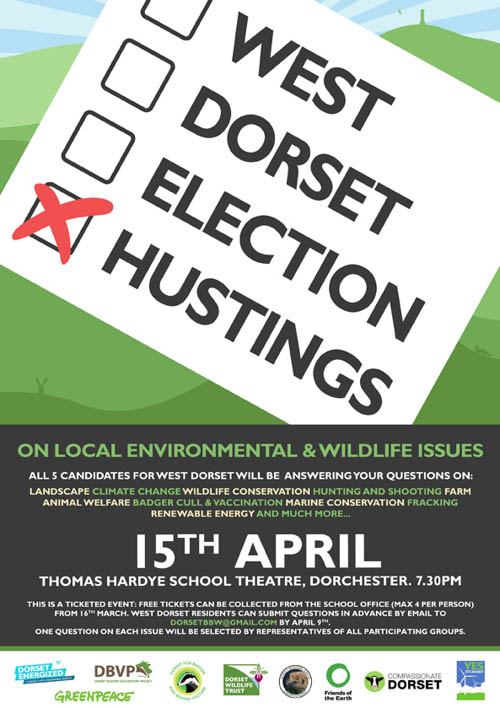 Poster giving details of the hustings