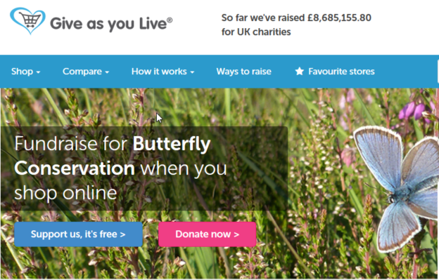 Picture of the Give As You Live website