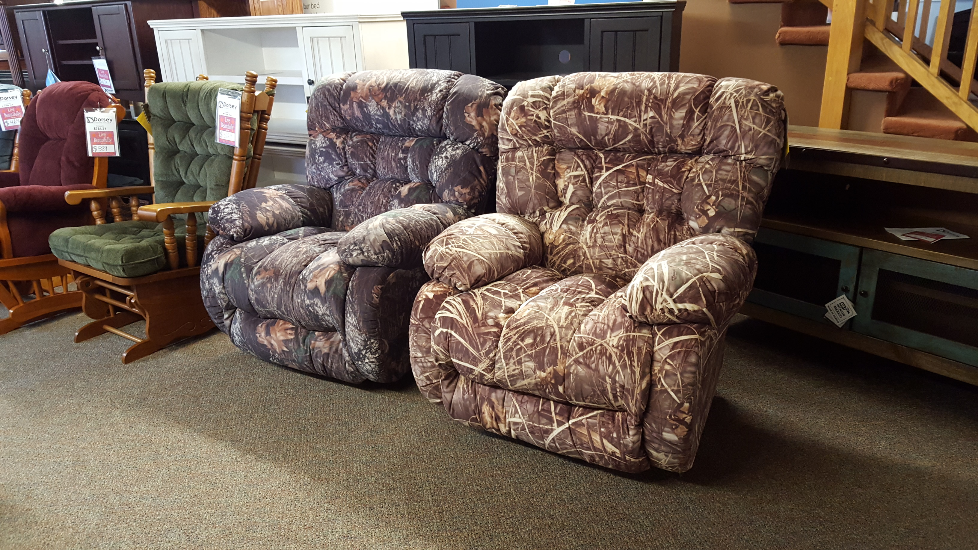 Best Chair Camo recliners  Furniture Store Bangor