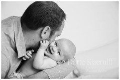 Dad and baby photography