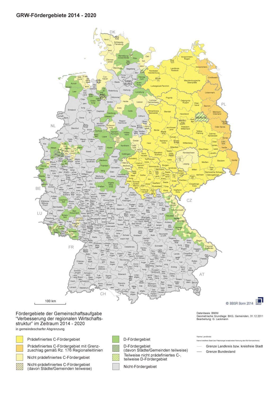 Fördergebietskarte BBSR Bonn 2014