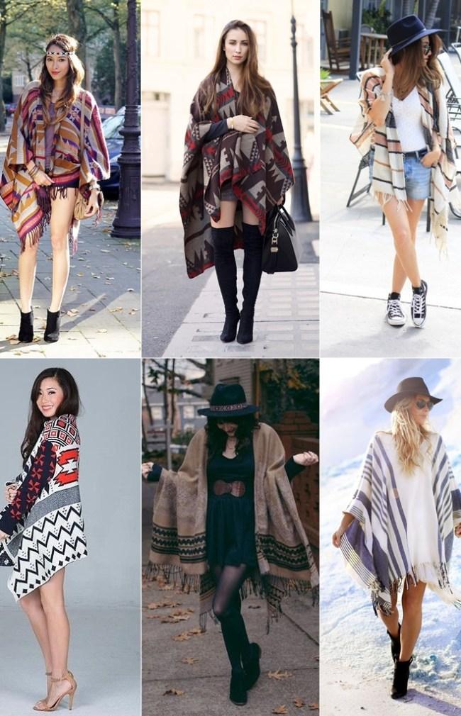 look-moda-poncho-inspiração-short-vestido-saia
