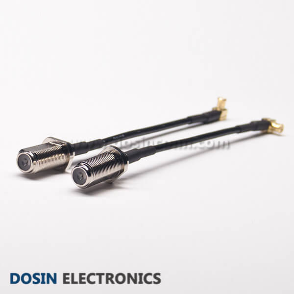 F Connector Coaxial Cable Female Straight to MCX Straight