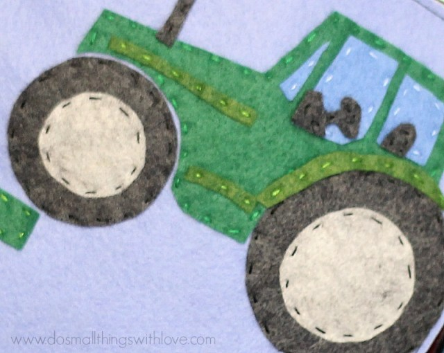 t is for tractor felt book pattern