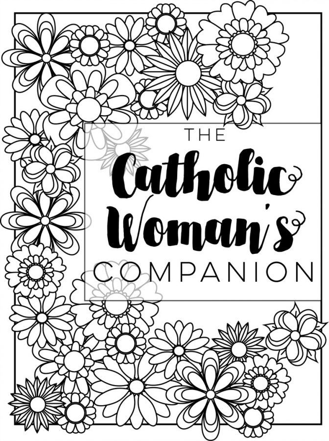 A Servant's Heart: Catholic Mom's Coloring Page