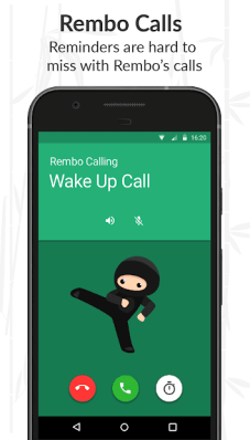 Rembo – Reminder, Alarm and To-Do Chatbot Reminder Ninja App Do Something New