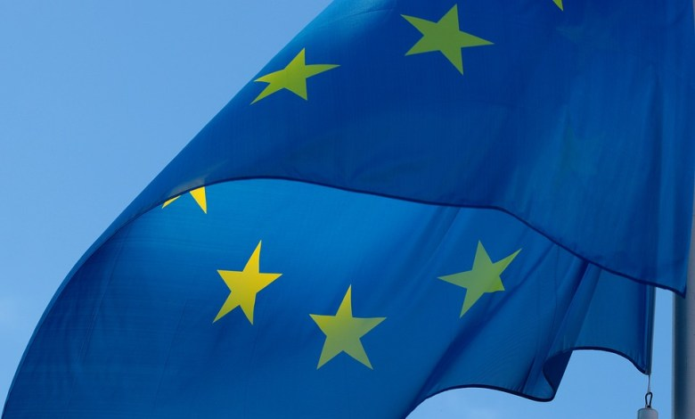 EU zastava v vetru