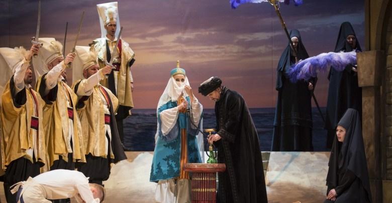 Prizor iz dramske igre Mozartova Ugrabitve iz seraja