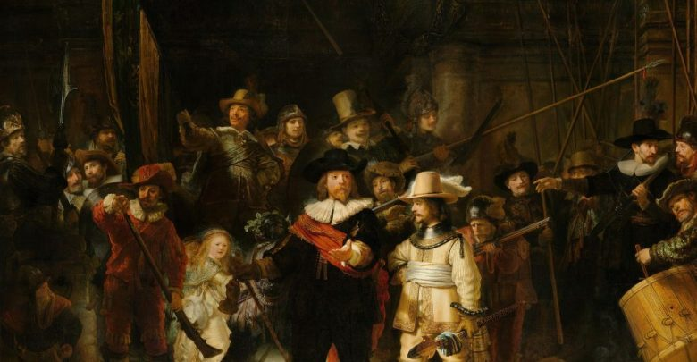 nočna straža, Nočne straže, Rembrandt,
