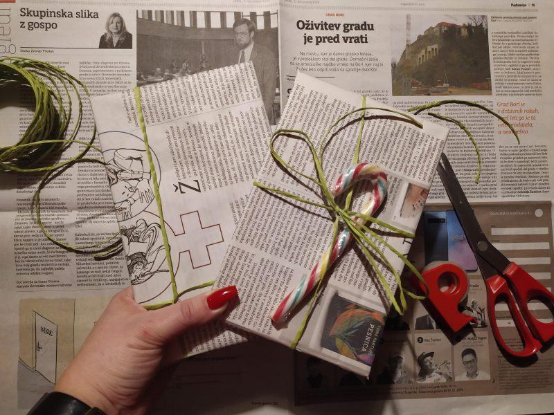 Doma narejena darila, darila, darilo, Božič, prazniki, zero-waste, zavijanje daril, presenečenje
