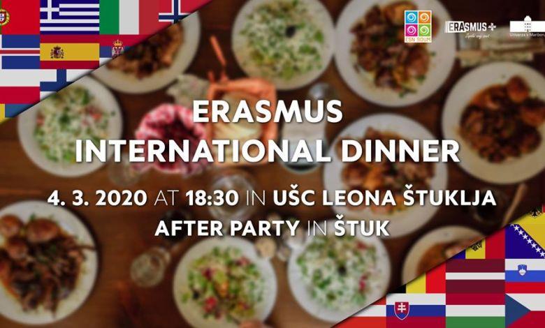 Erasmus International Dinner,Mednarodna večerja