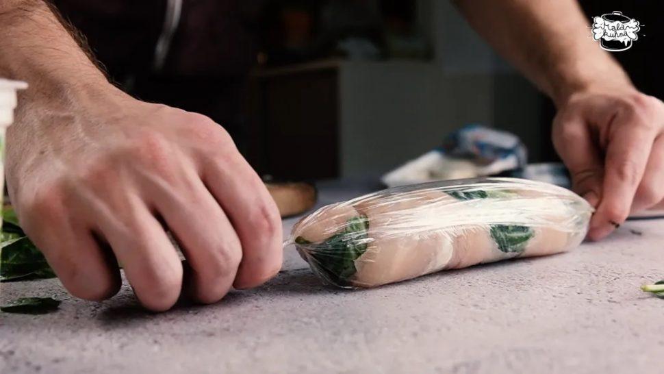 Piščančja rulada, mala kuhna, recept, Piščančja prsa, cvrtjem, Nasvet,