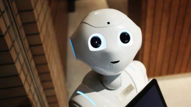 robot, opominja kupce