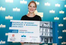najboljša študentka, Univerza v Mariboru, Špela Kovše, Jan Lokar, Sanja Špindler, izjemni dosežki, nagrada, najboljši študent