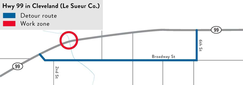 medium resolution of hwy 99 from the minnesota river bridge to le sueur county rd 38